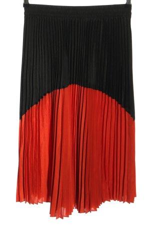 Zara Plisowana spódnica czarny-czerwony W stylu casual