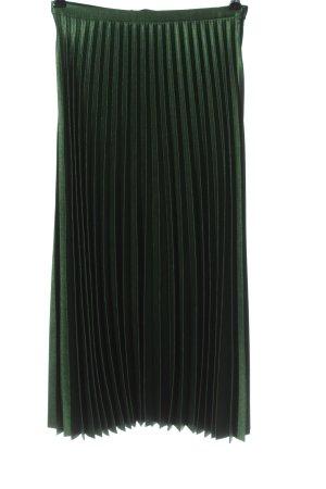 Zara Jupe plissée vert style décontracté