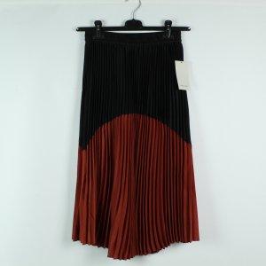 ZARA Plisseerock Gr. S schwarz rot (20/02/500)