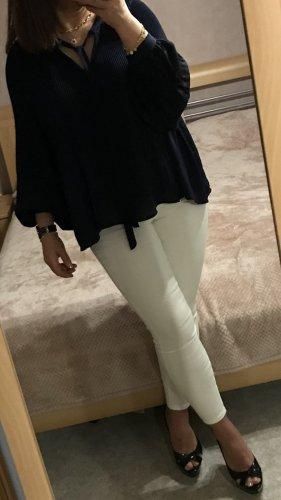 Zara Plissierte Bluse mit Spitze passt S-L