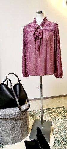 Zara / Plumetis Bluse mit Schleife/ Flieder Farben/ Größe M / Neu ohne Etikett