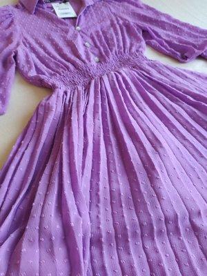 ZARA Plumetis-Kleid mit Plissee-Rock XS