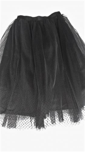 Zara Tulle Skirt black viscose