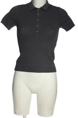Zara Polo-Shirt hellgrau Zopfmuster Casual-Look