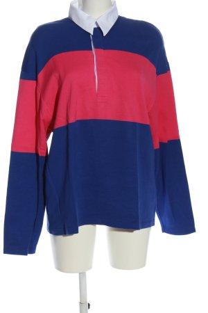 Zara Polo-Shirt blau-pink Casual-Look