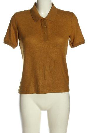 Zara Koszulka polo brązowy W stylu casual