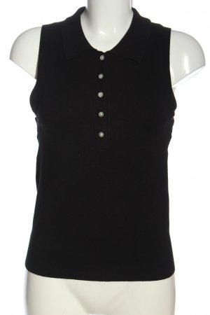 Zara Polo Top schwarz Casual-Look