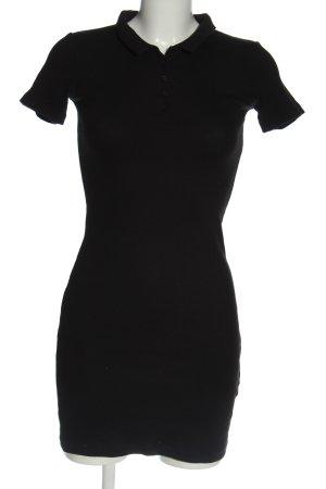Zara Robe Polo noir style décontracté