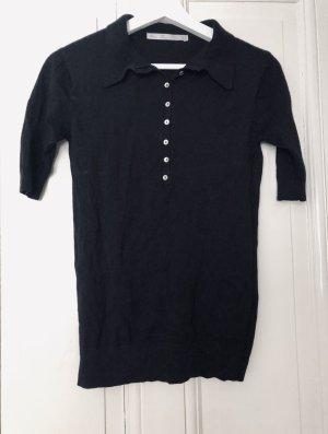 Zara Poloshirt mit Perlmutt Knöpfen