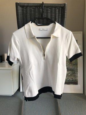 Zara Polo blanc-noir