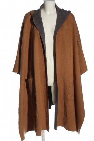 Zara Poncho marrón moteado elegante