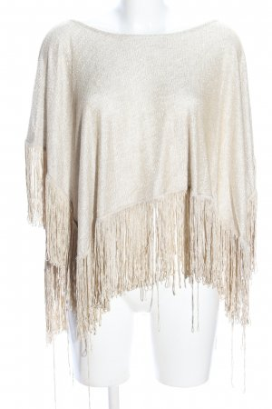 Zara Poncho cream casual look