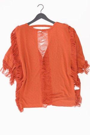 Zara Poncho Größe S orange aus Polyester