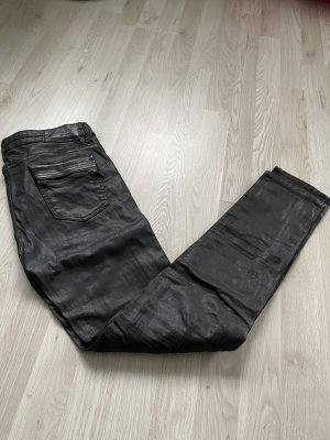 Zara Premium Collection Biker Jeans schwarz 36