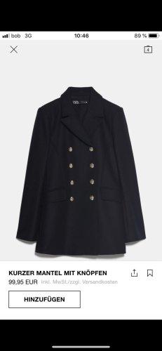 Zara Wool Jacket dark blue wool