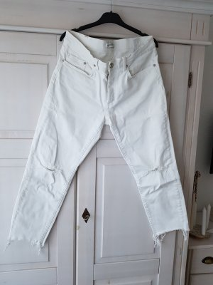 Zara 3/4 Length Jeans white