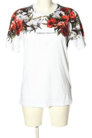 Zara Print-Shirt Blumenmuster Casual-Look