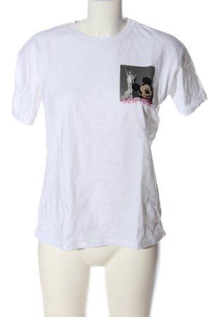 Zara Print-Shirt Motivdruck Casual-Look