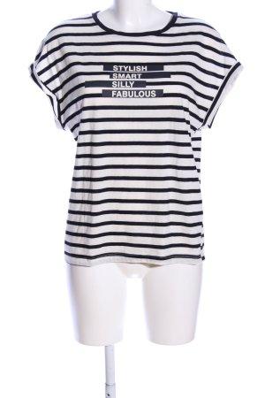 Zara Print-Shirt weiß-schwarz Schriftzug gedruckt Casual-Look