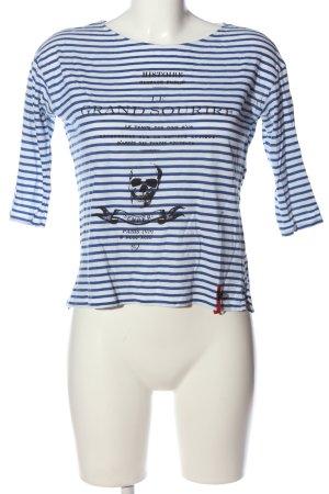 Zara Print-Shirt weiß-blau Motivdruck Casual-Look