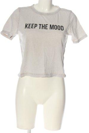 Zara Print-Shirt wollweiß Schriftzug gedruckt Casual-Look