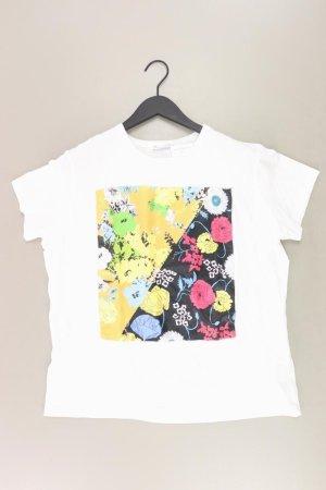 Zara Printshirt Größe XL neuwertig Kurzarm weiß aus Baumwolle