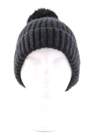 Zara Cappello con pon pon nero punto treccia stile casual