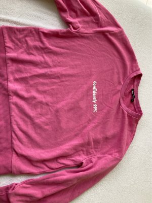 Zara Oversized trui wit-roze