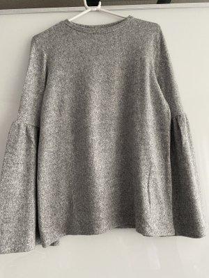 Zara Pull polaire gris clair-argenté