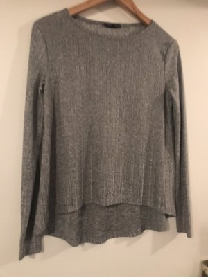 Zara Fine Knitted Cardigan silver-colored