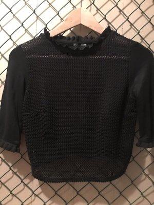 Zara Sweater met korte mouwen zwart