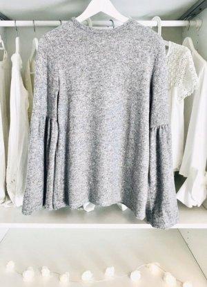 Zara Kraagloze sweater lichtgrijs-grijs