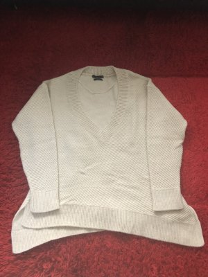 Zara Sweter oversize w kolorze białej wełny