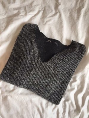 Zara V-Neck Sweater grey