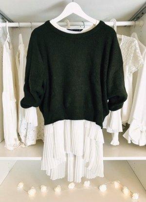 Zara Kraagloze sweater donkergroen