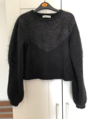 Zara Knit Jersey de lana negro mohair