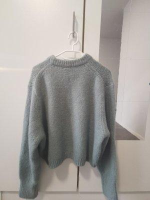 Zara Swetrowa sukienka jasnoniebieski