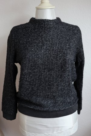 ZARA Pullover Feinstrick mit Reißverschluss Casual-Look