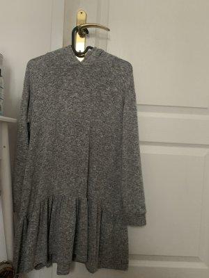 Zara Basic Abito maglione grigio chiaro-bianco