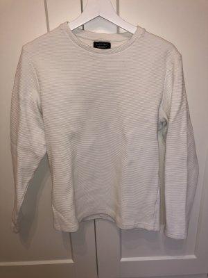 Zara pullover gerippt Weiss