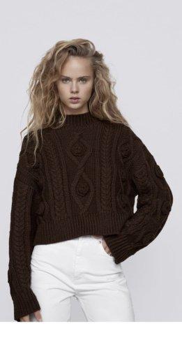 ZARA Pullover gr M braun neu mit Etikett