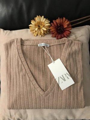 Zara Pullover in beige/ rose M