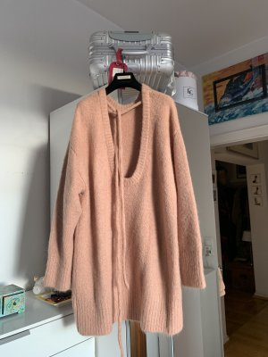 ZARA Pullover Kleid Neu Grobstrick Wolle rosé M