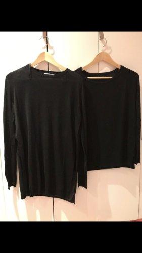 Zara Pullover Links Gr M feinstrick Basic länger geschnitten