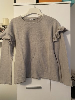 Zara Długi sweter szary