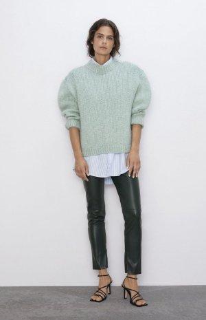 Zara Oversized trui grijs-groen