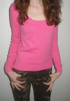 ZARA Pullover Pulli Langarm pink U Ausschnitt Bündchen 34 36 XS S H M edel