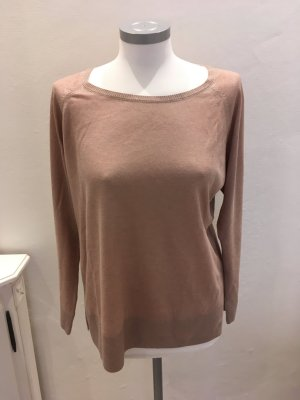 Zara Pullover rose rosa nude silber L 40
