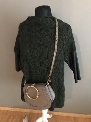 Zara Jersey largo negro-verde oscuro