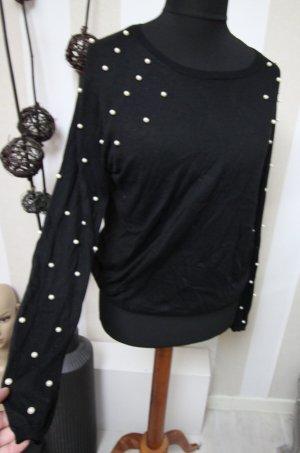 Zara Pullover Sweatshirt mit Perlen XXL